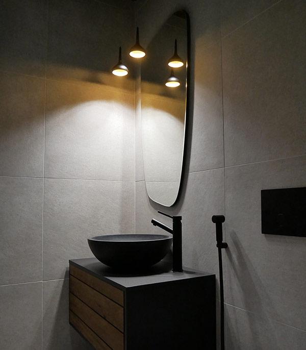 Valaistussuunnittelu omakotitalon kylpyhuone